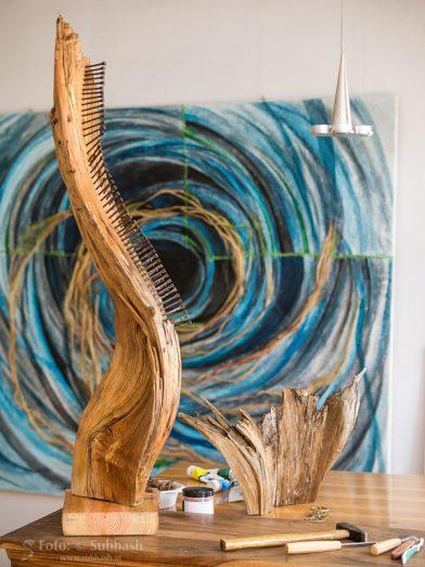 Im Atelier Iris Lindner