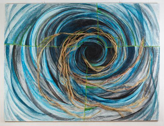 """Iris Lindner: """"Spirale blau"""""""